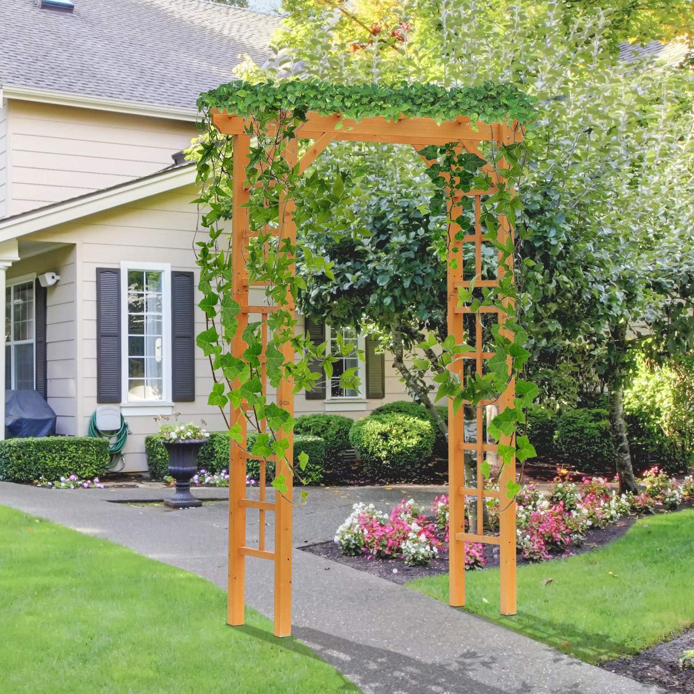 Outsunny – Balancín de jardín Arbor Arco de Madera Enrejado ...
