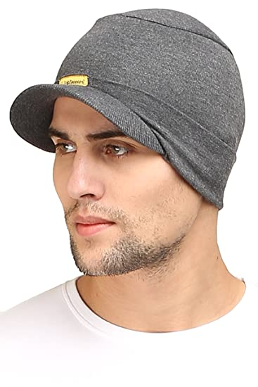 a28afd78 Image Unavailable. Image not available for. Colour: FabSeasons Cotton Skull  Cap with Peak, Ideal for All Summer ...