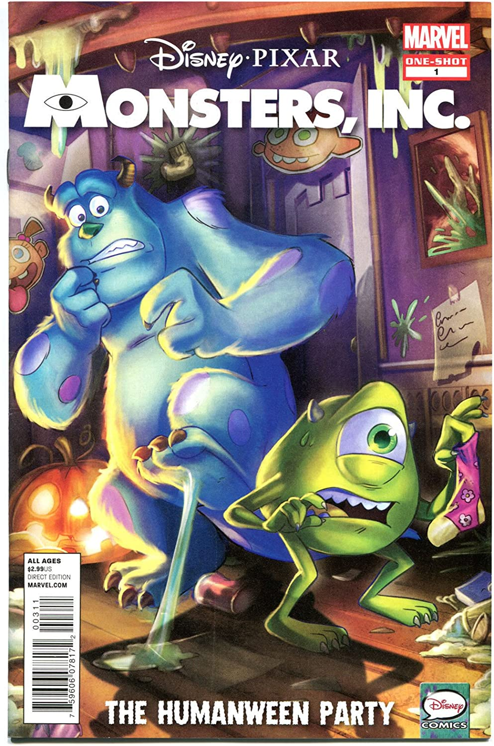 Amazon Com Monsters Inc 1 Nm The Humanween Party Disney 2013 Pixar More In Store Entertainment Collectibles