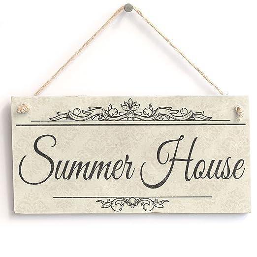 Verano Casa - hecho a mano Shabby Chic cartel de madera ...