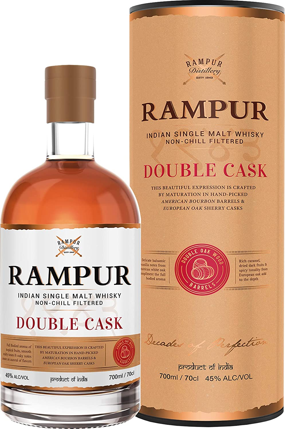Rampur Double Cask Indian Single Malt Indischer Whisky