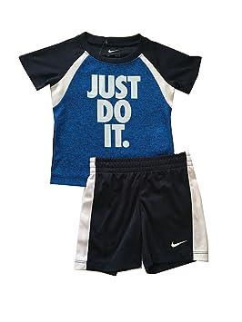 0831865f78d0e Nike Infant garçon Just Do It 2 pièces Ensemble de Maillot et Short  Blanc Obsidienne