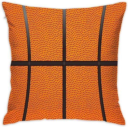 shizh Funda de Almohada Decorativa con Textura de Baloncesto ...