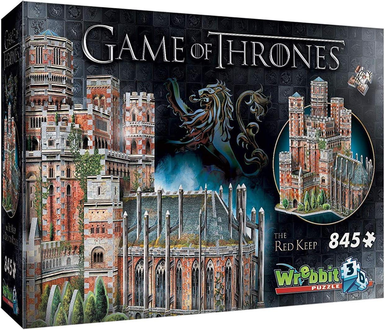 Wrebbit 3D Juego de Tronos Red Collection Mantenga y Juegos Invernalia Combo Pack 3D Jigsaw (1755 Piezas): Amazon.es: Juguetes y juegos