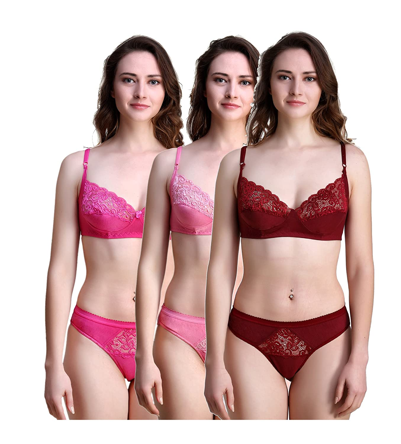 93849e64a best bra and panty Set  Amazon.in  Clothing   Accessories