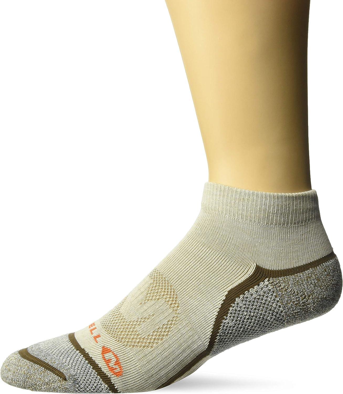 Merrell mens 1 Pack Cushioned Trail Glove Low Cut Socks Casual Sock