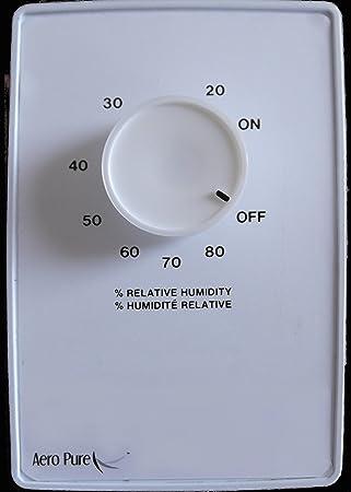 Great Aero Pure AP 100 MCS Bathroom Fan Moisture Control Sensor, White   Humidity  Sensor Switch   Amazon.com