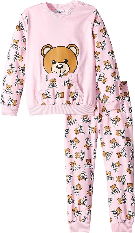 ba55aba2f Amazon.com: Moschino Kids Womens All Over Teddy Bear Print T-Shirt & Pants  Set (Infant/Toddler): Clothing