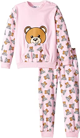 e3553aff7 Moschino Kids Baby Girl's All Over Teddy Bear Print T-Shirt & Pants Set (