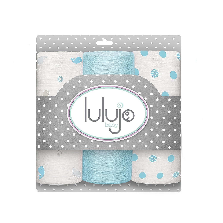 Lulujo Mini Muslin Cotton Cloths, Brilliant Blue, One Size LJ202
