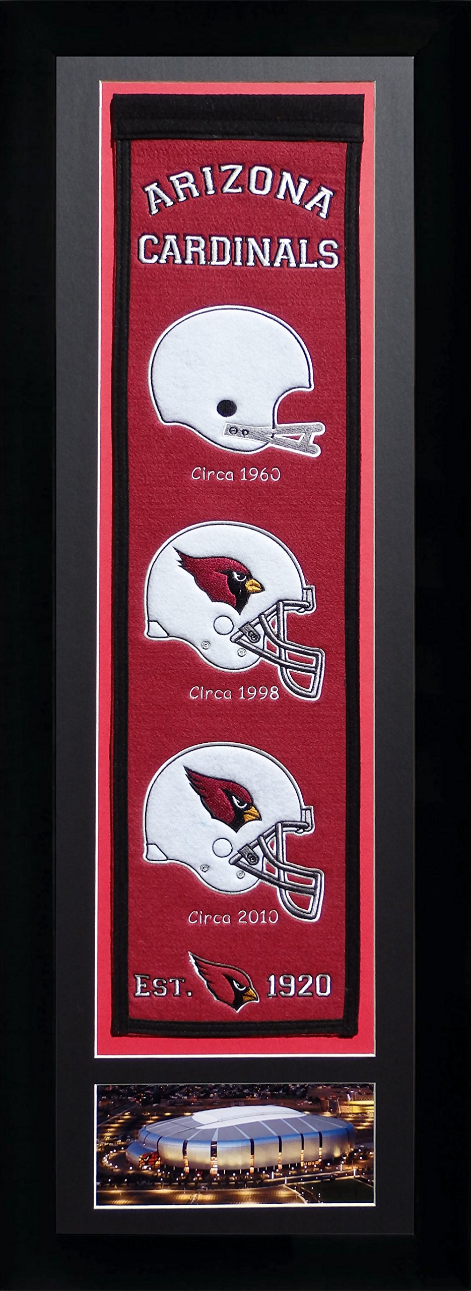 NFL Arizona Cardinals Legends Never Die Team Heritage Banner with Photo, Team Colors, 15'' x 42'' by Legends Never Die