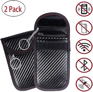 2 X Autoschlüssel Signal Blocker Faradayscher Käfig Taschen Für Autoschlüssel Mit Kette 2 Rfid Hüllen Signalblocker Beuteln Funkfernbedienung Des Fahrzeugschlüssels Signal Blocker Beutel Baumarkt