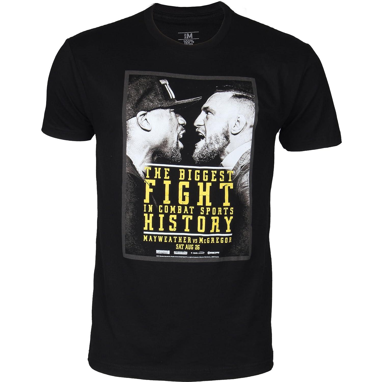 Black UFC Mens McGregor VS Mayweather Biggest Fight In History T-Shirt
