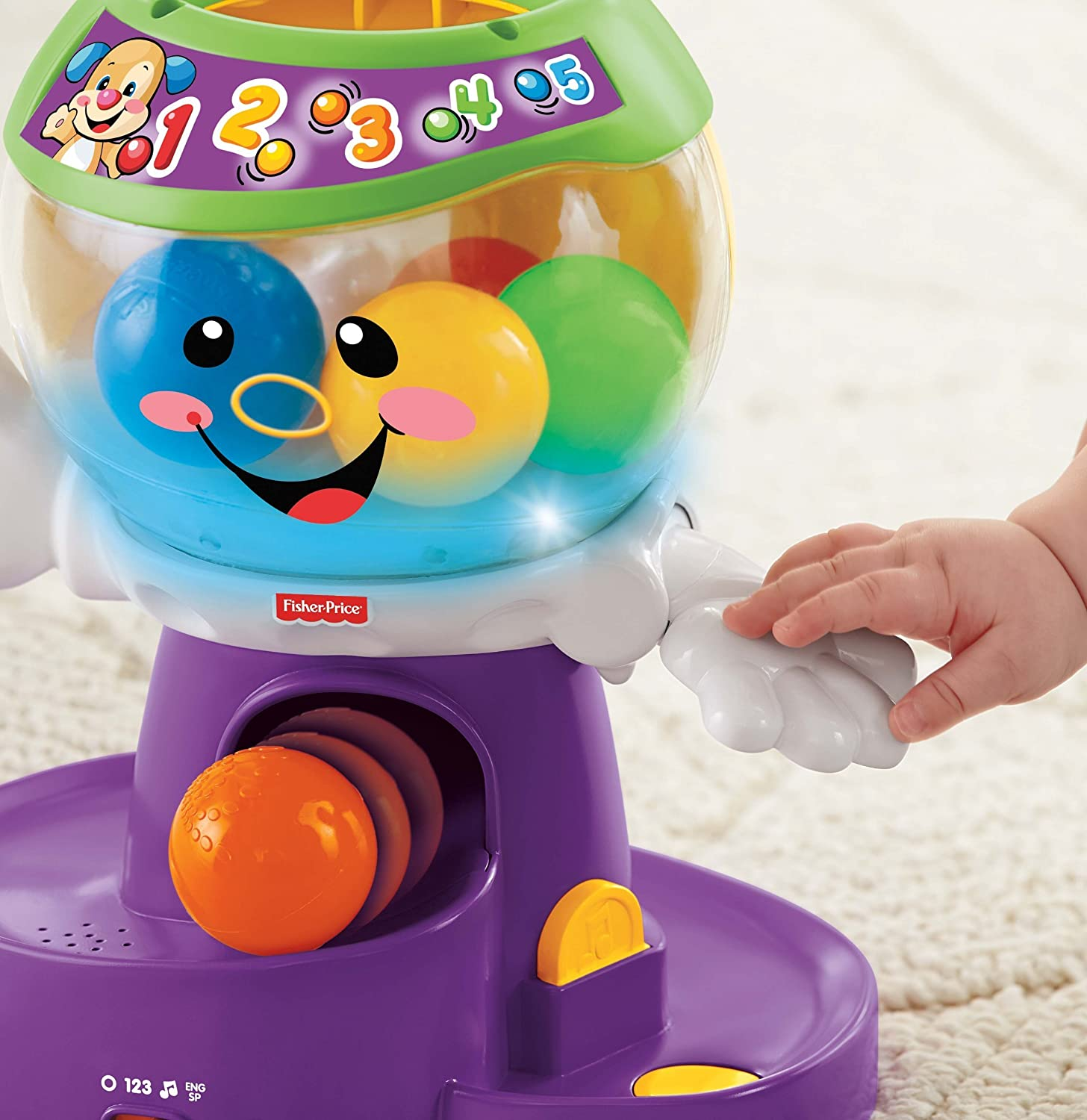 Amazon Fisher Price Laugh & Learn Count and Color Gumball