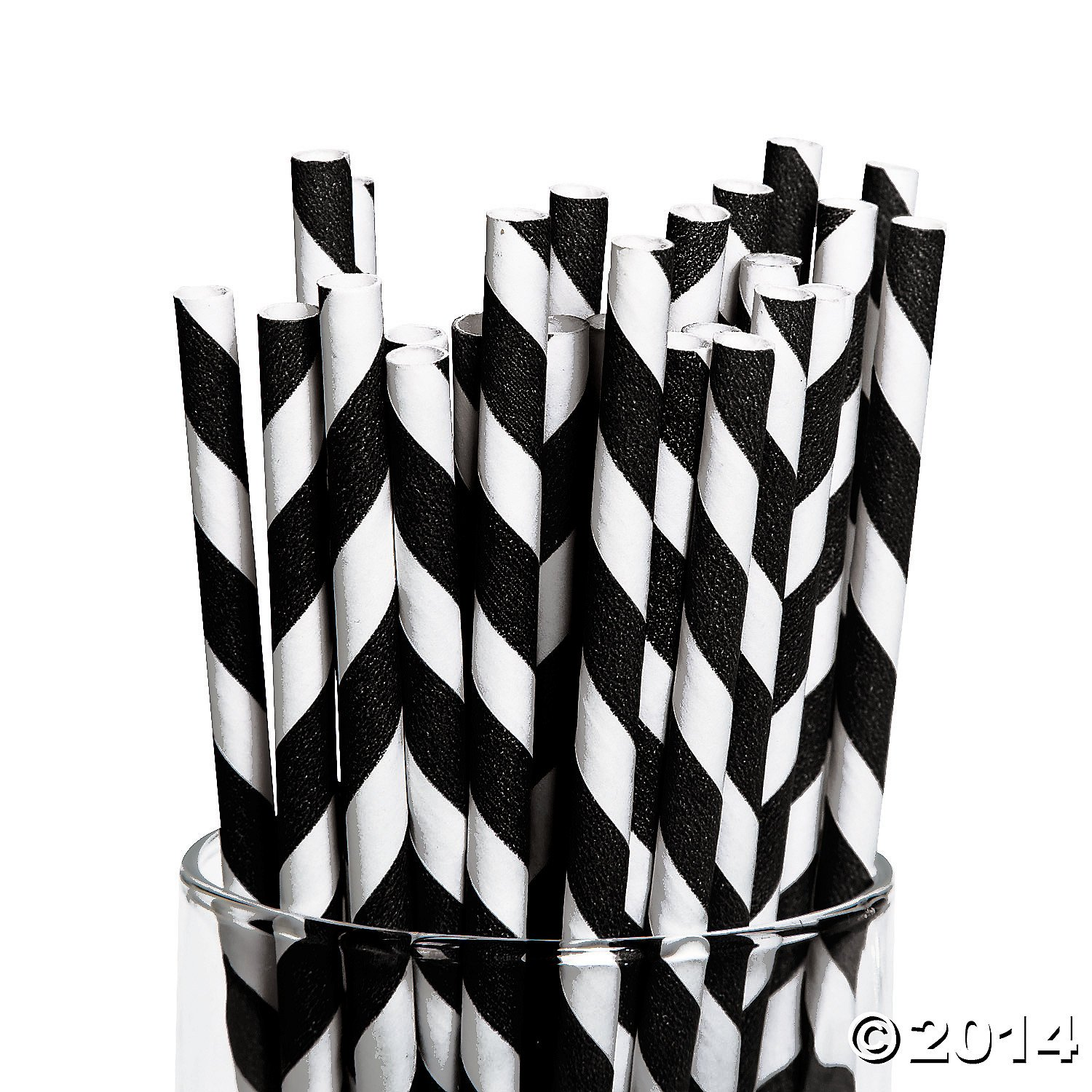 Black & white Paper Straws
