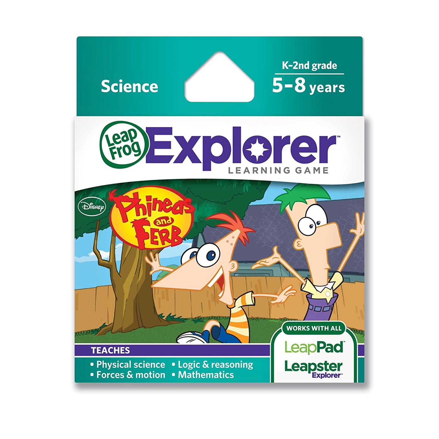 amazon com leapfrog disney phineas and ferb learning game works