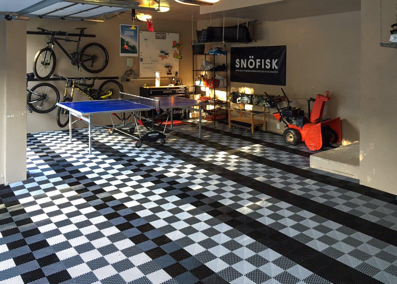 RaceDeck Free-Flow Open Rib Design, Durable Interlocking Modular Garage Flooring Tile (48 Pack), Graphite by RaceDeck (Image #3)