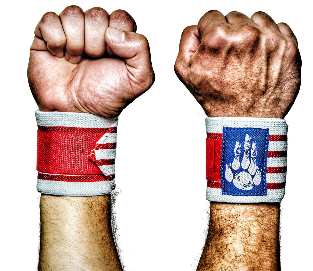 MANIMAL: The Best Weightlifting Straps with Superior Wrist Support, 1 Wrist Wraps Trusted by Professional Powerlifting, Strongman, Crossfit and Olympic Athletes - Old Glory