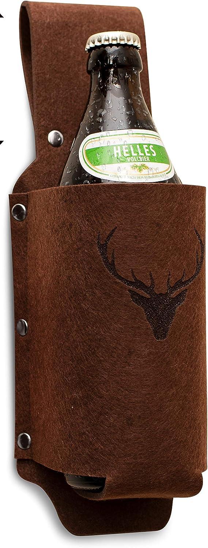 Soporte para botellas de cerveza para el cinturón.Ideal como regalo de cumpleaños para amigos, compañeros de trabajo o para despedidas de soltero