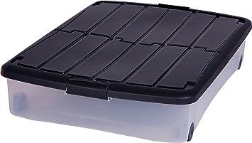 Cassetto Sotto Letto Con Ruote : Iris ohyama 100.847 contenitore sotto letto con ruote 50 litri