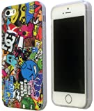 Sticker Bomb Stickerbomb Style Designer iphone 5 5S Coque arriere Coque Case-Silicone Gel Coque