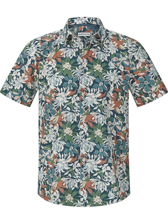 Shirt Master Herren Kurzarmhemd Floralpower (Hawaii-Hemd, Freizeithemd) B07NR6SXWH Freizeit Abgabepreis