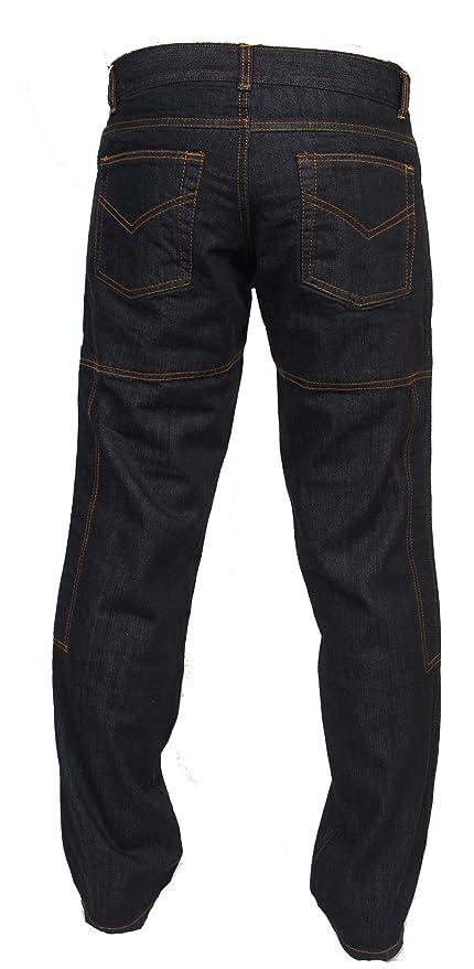 eddfeae379 Juicy Trendz Hombre Motocicleta Pantalones Moto Pantalón Mezclilla Jeans  Con Protección Aramida Negro  Amazon.es  Ropa y accesorios