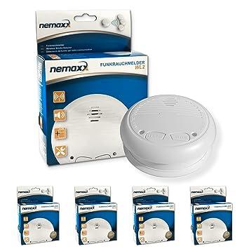 4X Nemaxx WL2 detectores de Humo inalámbricos - con DIN EN 14604: Amazon.es: Bricolaje y herramientas