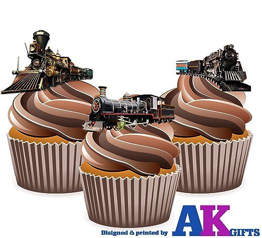 Vintage Dampfmaschine Zug Mix 2 Kuchen Dekorationen 12 Esspapier