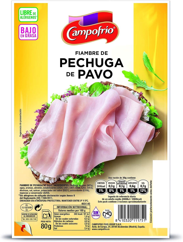 Campofrío Pechuga Pavo en Lonchas, 80g