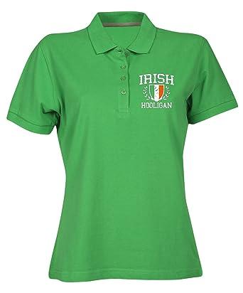 T-Shirtshock Polo para Mujer Verde OLDENG00839 Irish Hooligan (3 ...