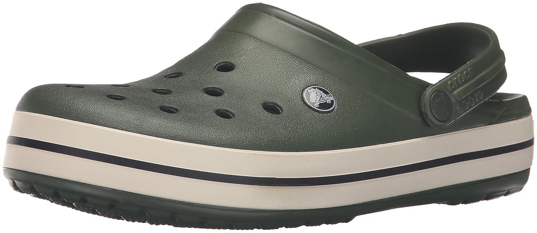 Crocs Crocband Clog, Zuecos Unisex Adulto 39/40 EU Verde (Forest Green/Stucco)