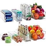 Cadriy Set Of 9 Refrigerator Organizer Bins - Stackable Fridge Organizers for Freezer, Kitchen, Countertops, Cabinets…