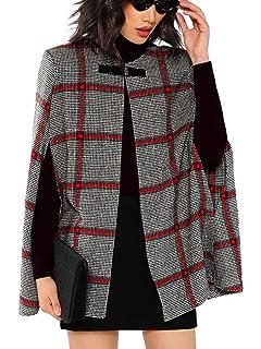 d3ddf0491b752c MAKEMECHIC Women s Surplice V-Neck Tie Waist Belted Cape Coat Open Front  Cardigan
