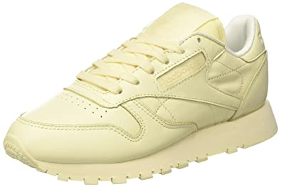d9c63551e534b Reebok Classic Leather Pastels Womens Trainers Pastel Yellow - 4 UK