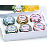 Scented Candles Gift Set of 6, 100% Natural Soy Wax Portable Travel Tin, Perfect Present or Use for Weddings Party…