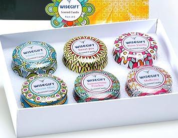 Amazon.com: Juego de velas aromáticas Wisegift de regalo de ...