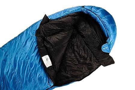 alvivo Saco de dormir (Plumón Ibex 700, turquesa y negro: Amazon.es: Deportes y aire libre