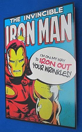 Iron man birthday card amazon toys games iron man birthday card bookmarktalkfo Images