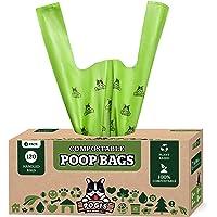 Pogi's Bolsas compostables para excrementos de perro, 120 bolsas para excrementos de perro con asas fáciles de atar, a…