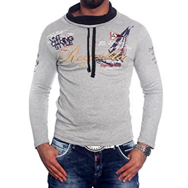 Baxboy Hombre Cuello Manga Larga Camiseta de Polo Jersey Sudadera ...