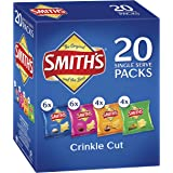 Smiths Crinkle Cut Potato Chips Variety Multipack (20 x 19 grams) - 120 Single Serves