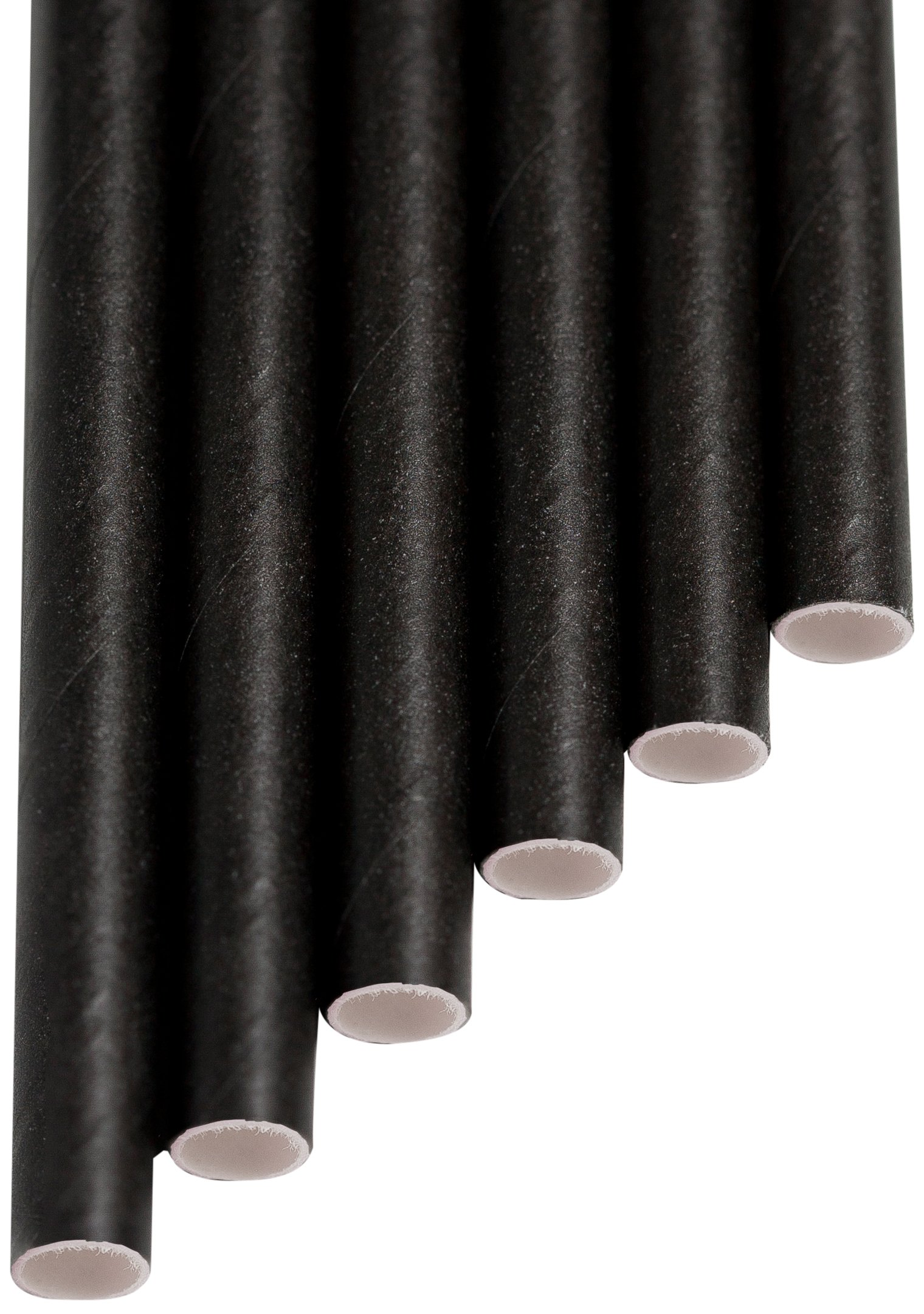 Aardvark Straws 61520099 Paper Drinking Straw, Unwrapped and Jumbo, 7.750'' Long, Solid Jet Black (Pack of 4800) by Aardvark Straws