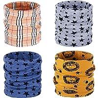 ANSUG 4 paquetes de calentador de cuello de algodón para niños, Ring Infinity Loop Pañuelo para el cuello Snood Bufanda…