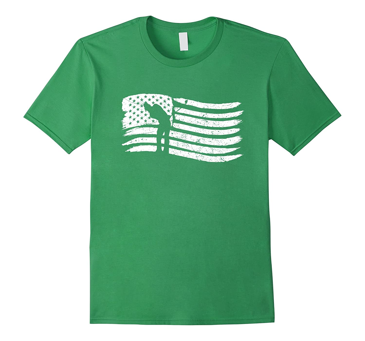 American Flag T-Shirt For Golf Player Patriotic