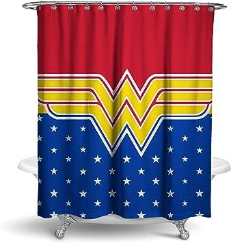 Robe Factory DC Comics Wonder Woman Estrellas Cortina de Ducha: Amazon.es: Hogar