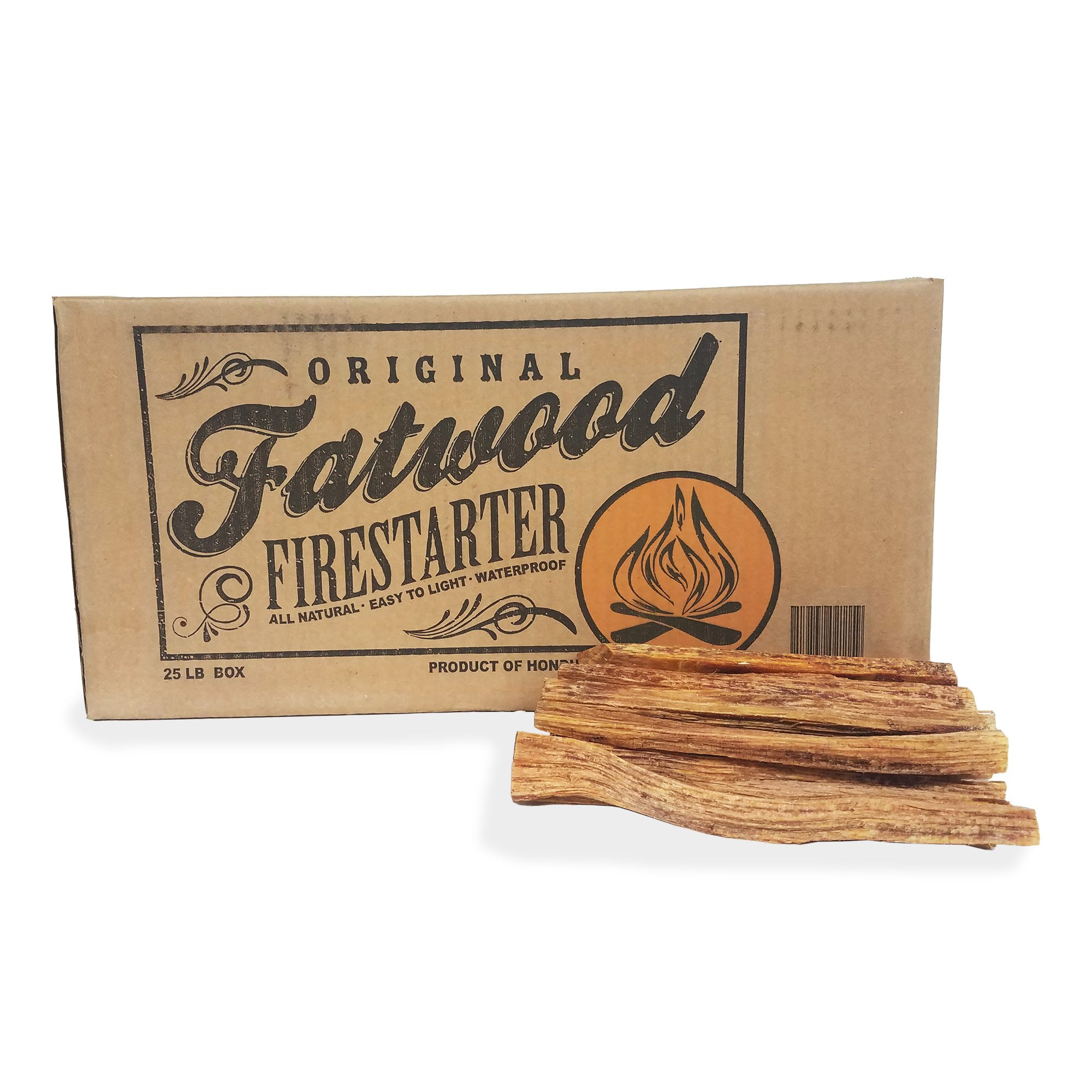 Earth Worth 25 Pound Box - Fatwood Firestarter, Brown