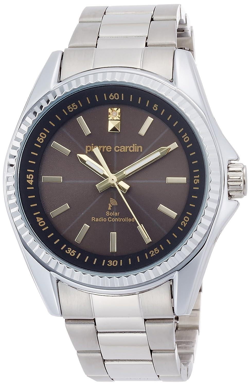 [ピエールカルダン]pierre cardin 腕時計 電波ソーラー 1Pダイヤ PC-791 B01K1J5FAY
