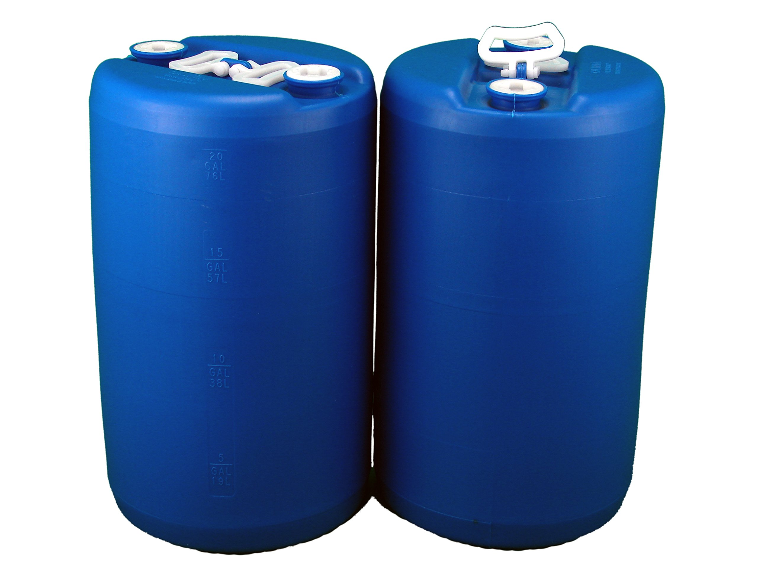 20 Gallon Emergency Water Storage Drum, 2 Pack, Blue - New! - Boxed! by GREIF