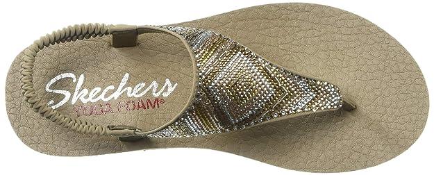 Skechers Meditation-Gypsy Glam, Sandalias de Punta Descubierta para Mujer
